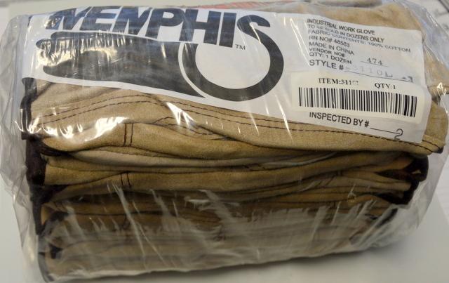 1 Dozen Memphis Leather driver style Gloves, Style #3110L - Large