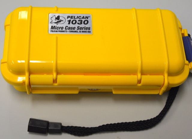 Pelican 1030-005-240 Micro Cast - Yellow with lanyard