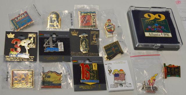 14 - Atlanta 1996 Olympic Pins -  605535 -All new.