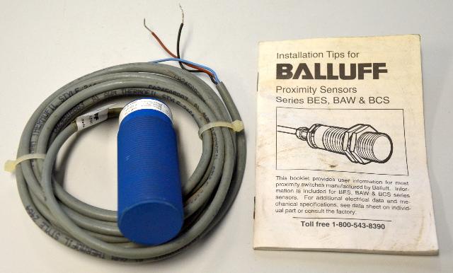 Balluff Proximity Sensor #BCS-030-NS-1-Y, New Old Stock - w/ Install book, no box