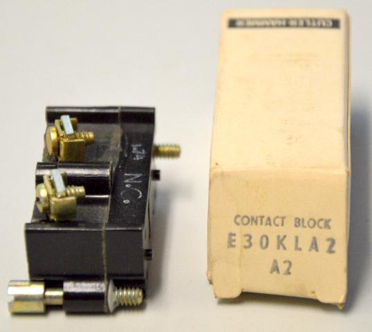 Cutler Hammer E30KLA2  Series A2 Contact Block - NIB - New Old Stock