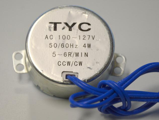 Synchronous Motor TYC  AC100-127W, 50/60Hz, 4W, 5~6R/MIN, CCW/CW