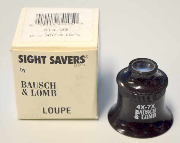Bausch & Lomb #814105 Watchmaker's Loupe 4X and 7X