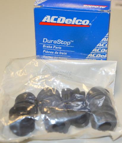ACDelco 18K1404 Rear Brake Caliper Bushing  6 pc set.  New.