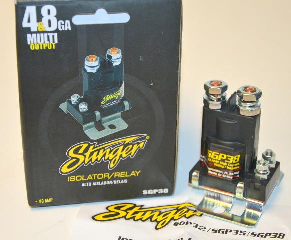 Stinger 80 Amp High Current Relay / Isolator Multi Output  Audio #SGP38. New.