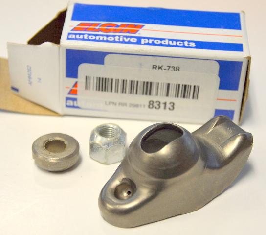 """Elgin Rocker Arm RK-738; 1.6 Self Aligning 3/8"""" stamped steel long slot for SBC"""