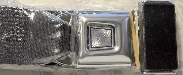 Allstar Performance Lap Seat Belt Push Button Buckle - Charcoal - 98112