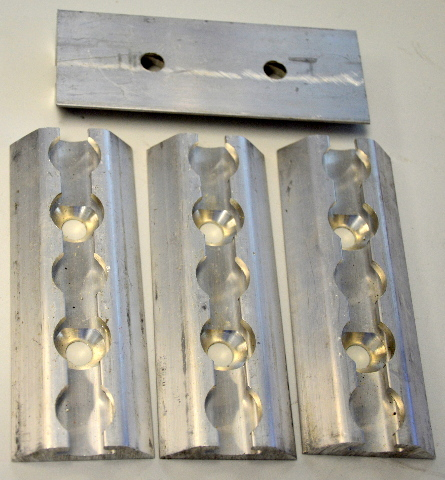 "4 Pc. 5""Aluminum L-Track for Q-Straints - Used in any cargo trailer."