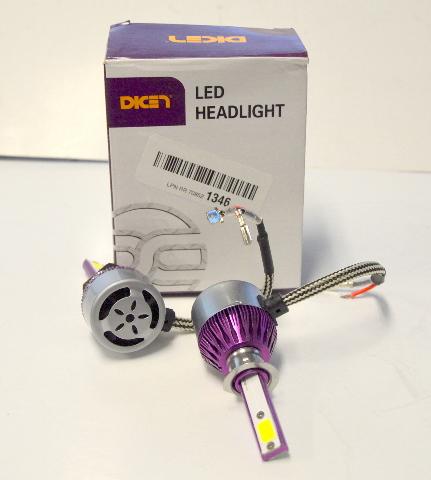 H1 LED Headlight Bulbs 12000LM 120W Cool White 6000K COB Chips. 1 Pair