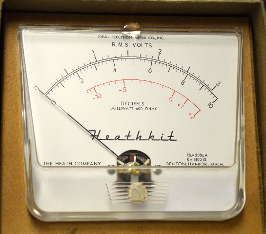 Heathkit Vintage Volt Meter #407-85 R.M.S. Volts, 600 Ohms - Replacement Meter NIB