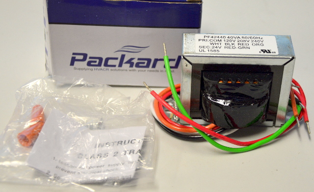 Packard PF42440-24V - HVAC Transformer 40VA, 50/60Hz (120V/208V240Vto 24VAC
