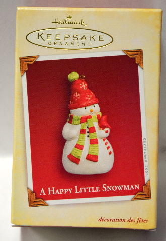 "Hallmark Keepsake Ornament from 2005 ""A Happy Little Snowman"" #PR3570"