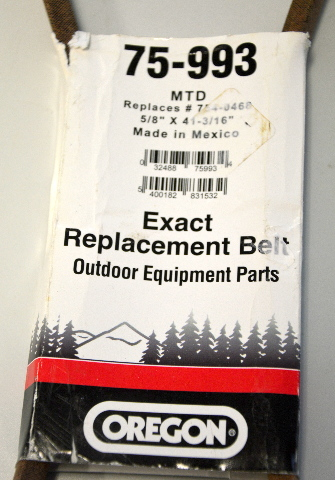 "Oregon #75-993 Upper Drive Belt 5/8"" x 41 3/16"" Exact replacement Belt."