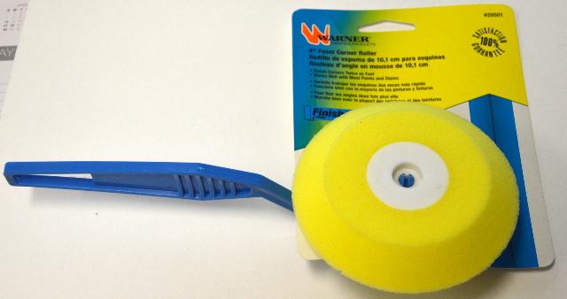 "Warner  4"" Foam Corner Paint Roller #20501.  Instructions on the back of package."
