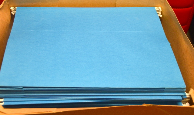 "Smead 3"" Capacity - Box Bottom - Hanging File Folders, Letter Size, Blue, 25 pcs."