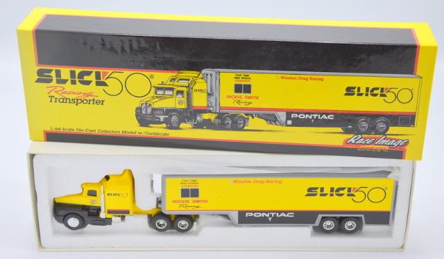 Ertl Slick 50 Racing Transporter, 1:64, Rickie Smith Racing. Winston Drag Racing T135