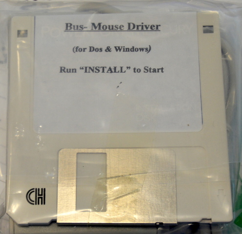 Vintage Microsoft Bus-Mouse Driver for DOS & Windows - 3 button mouse w/board.