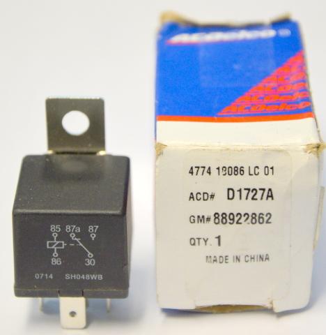 AC Delco #D1727A A/C Compressor Cut-Out Relay