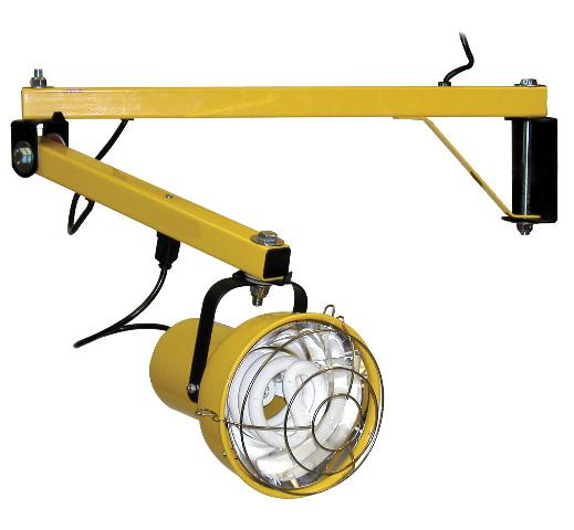 Fostoria #DKL-60VA-FL-A, Dock Light w/Arm-Modular Fluorescent 55 W Bulb included