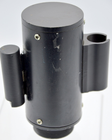 Retractable Barrier - 10' Belt screws into black post- used - working condition.