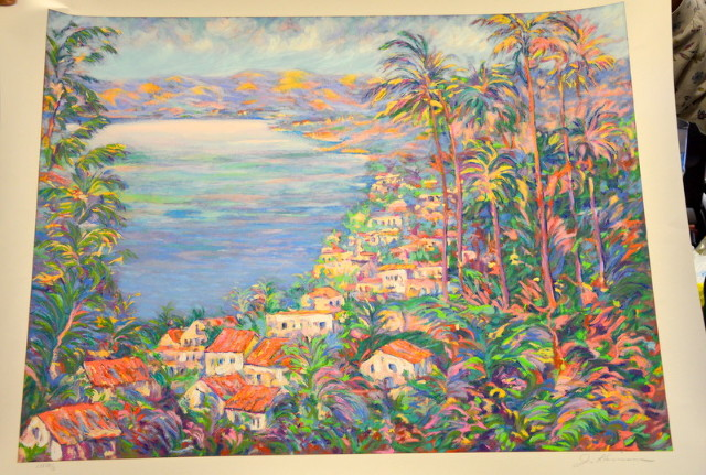 """""""Acapulco Mexico"""" Serigraph by Jacqueline Kamin, signed and numbered LXXC111/C"""