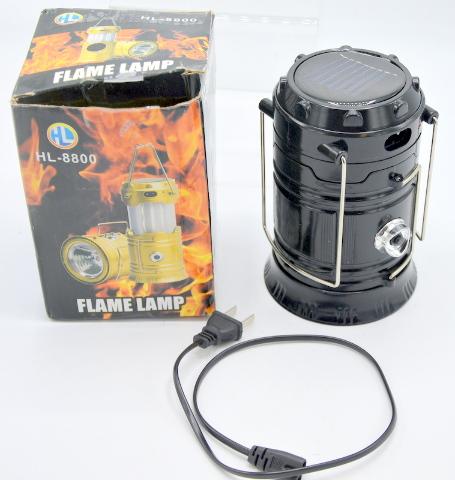 Flame Lamp - Solar Rechargeable Battery 1200mAh - 1 LED 100 Lumen.