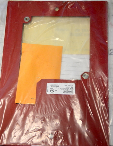 Gamewell Fire Horn Plate #0740640 for 2975-9145 with hardware.
