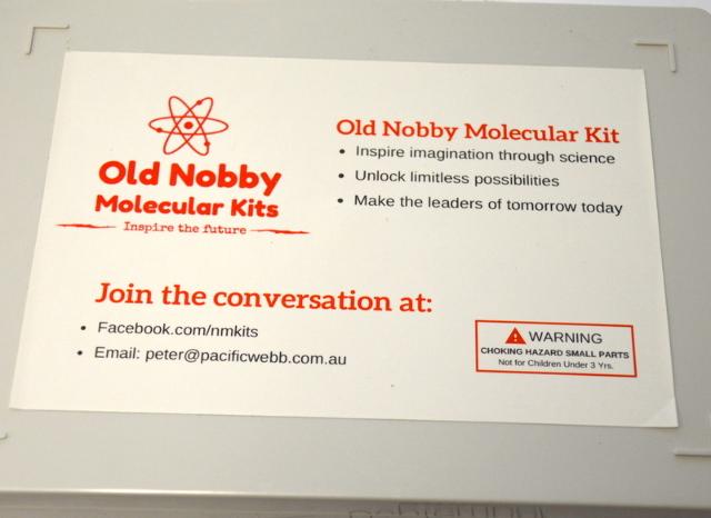 Old Nobby Molecular Kit - Make your own designs. Instruction Book Inside. Vintage.