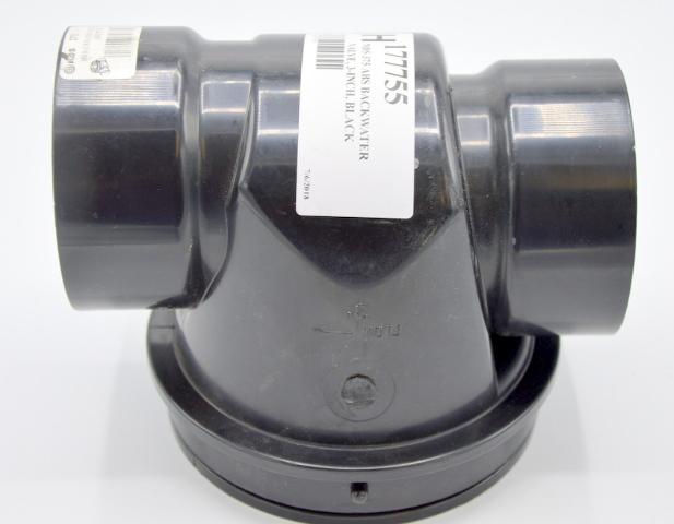 "NDS #375 ABS *6*, ""B"", Backwater Valve, 3"" Black - Universal Drains & Disposals."