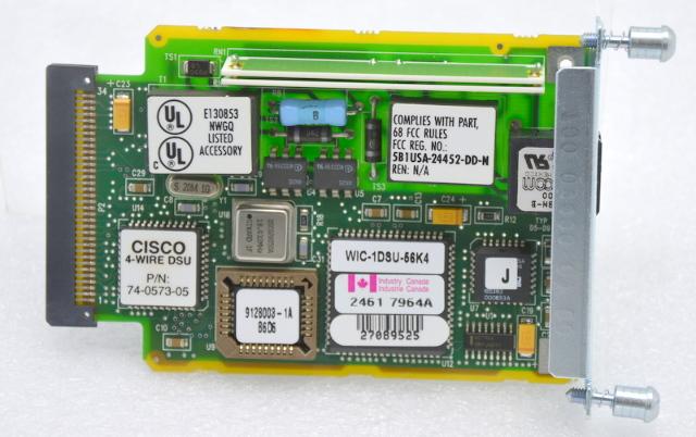 Cisco T1 Wic-1D8U-56K4 Interface Card 56/64 DSU/CSU