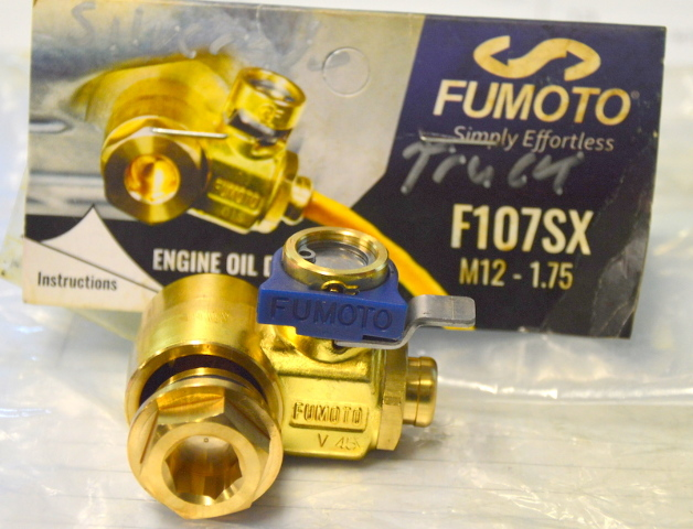 Fumoto Engine Oil Drain Valve F107SX M12-1.75 Thread Universal Fit.  #F107SX