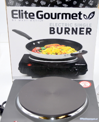 Elite Gourmet Electric Single Flat Cast Heating Burner Plate. #ESB-301BF/ESB-301F