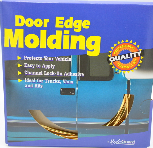 """Style Guard Door Edge Molding #T5417 - Gold - 3/8"""" x 10' - New Old Stock"""