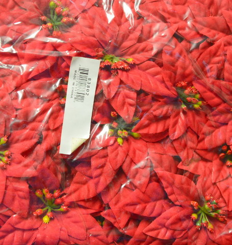 Pointsettia's - 100 pc bag of flowers for decorations for the holiday. #83802