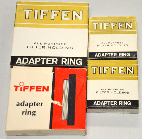 Tiffen Adapter Rings 4 pcs: 62M9, 52+M8, 49m-7 and 47.5S07