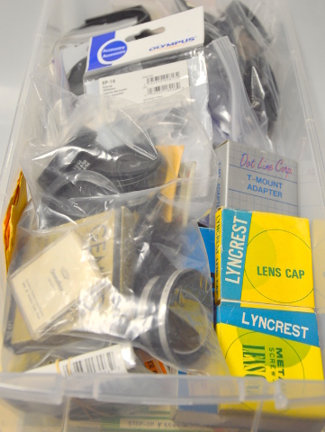 Camera Accessories #1 Large Lot of  Lens covers, StepUP/Stepdown, Lens and more.