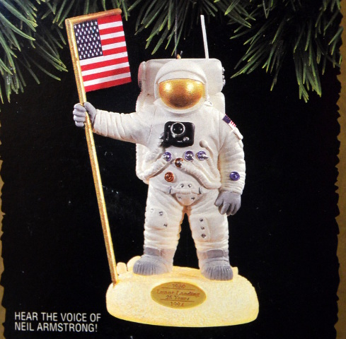 "Hallmark Ornament ""The Eagle Has Landed"" - Magic Light and Voice #07486"