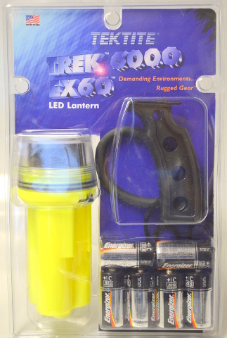 Tektite Trek6000 EX60 LED Lantern - Underwater Flashlight. New Old Stock