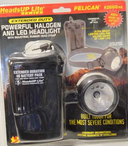 Pelican Heads-Up Lite with Halogen & 3 LED #2660 New Old Stock