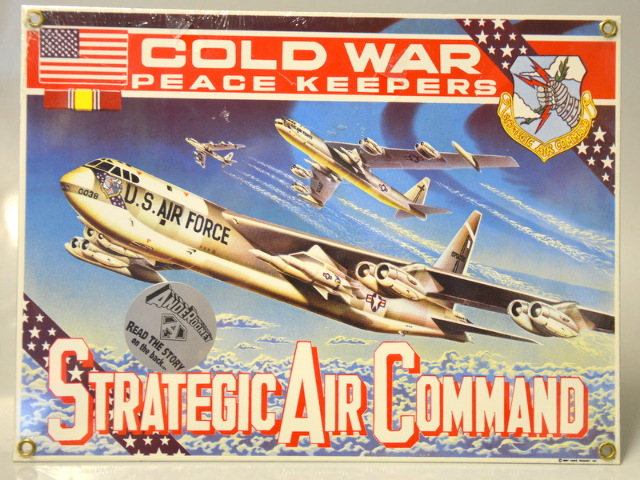 Strategic Air Command - Cold War - Peace Keepers - B-52 SAC Bomber Sign