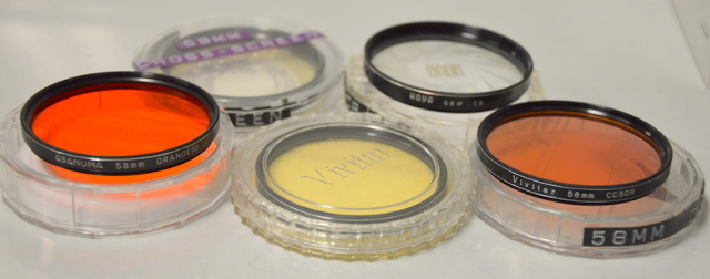 5 - 58mm Lens Filters - Different Manufacturers - see description