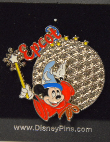 Disney Mickey Mouse Sorcerer Epcot Pin 400109