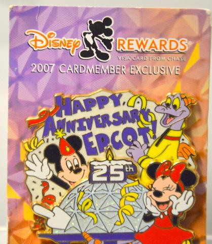 Disney Rewards 2007 - Happy Anniversary Epcot 25th Year - LE - 08959
