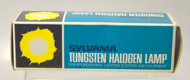 "Sylvania ""ETC"" 150W - 120V Tungsten Halogen Lamp - New Old Stock."