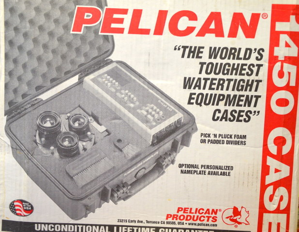 Pelican #1454 Silver Case with padded divider set. NIB