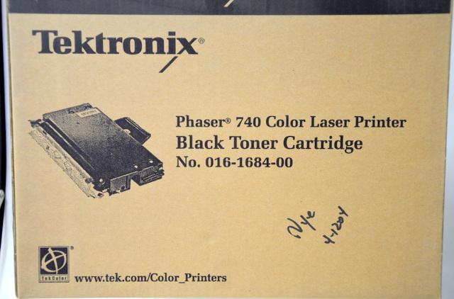 Tektronix Phaser 740 # 016-1684-00 Black Toner Cartridge- New Old Stock