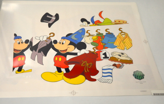 "Walt Disney's Mickey Mouse ""Changing of the Garb"" Sericel LE 2000 -Unframed"