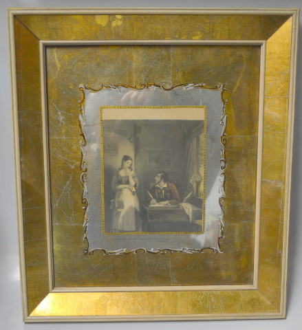 "Antique Set of 4 Framed Pictures 18"" x 16"" - Frames In need of repairs."
