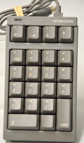 Vintage Kensington NoteBook Keypad = ADB Numeric for Macintosh Computers