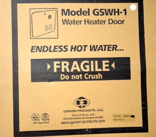 Girard RV Tankless LP Water Heater Replacement Door #GSWH-1